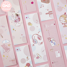 Mr Paper 30pcs/box Kawaii Pink Cartoon Pneuma Girls Bookmarks for Novelty Book Reading Maker Page Paper Bookmarks Presents mr paper 6 parttens cute cartoon rabbit piggy fruits magnetic bookmarks for novelty book reading maker page creative bookmarks