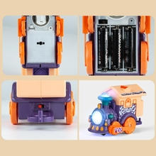 40JC Plastic Sensory Development Touch and Voice Control Train Toy for Kids and Children Early Education