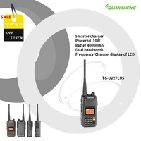 walkie talkie CB radio long range UHF VHF station radio communicator ham radio Quansheng UV2PLUS walkie talkies for hunting 10KM