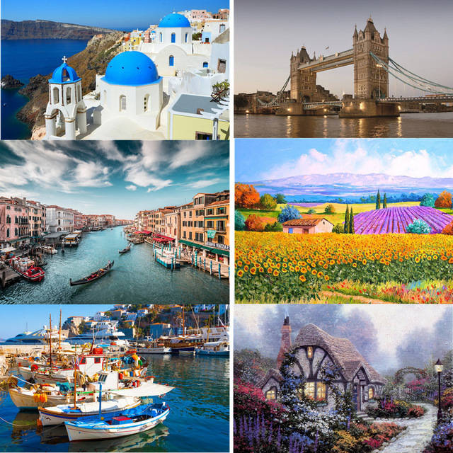Jigsaw Puzzle Set 500 Pieces Various Landscape Patterns Jigsaw Puzzle Educational Toy for Kids Children 's Games Christmas Gift 3
