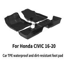 Honda custom car all weather tpe tpo напольный коврик для ног