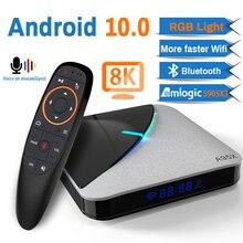 Transpeed A95X F3 Aria 8K Android 10.0 TV BOX Amlogic S905X3 4K Google Assistente Vocale wifi 4GB 16GB 32GB 64GB RGBLight TV Box
