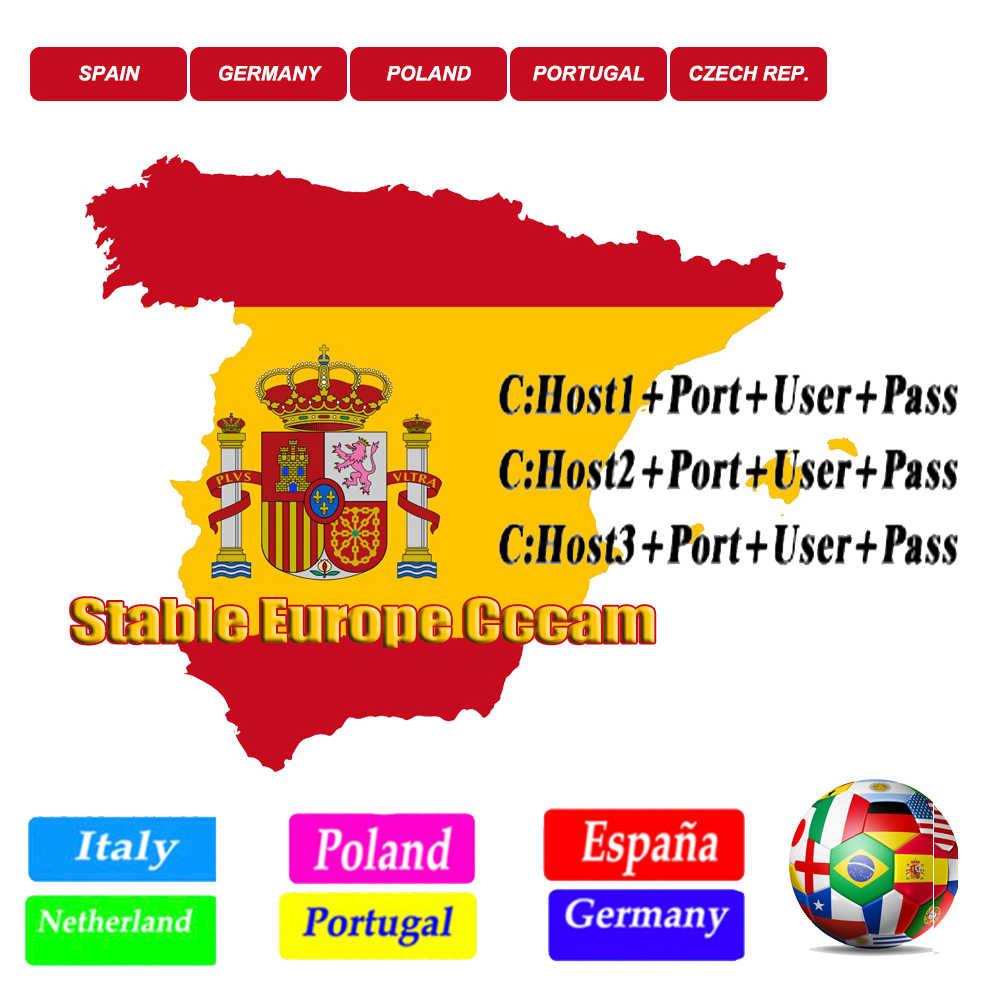 Beste Stabiele Satelliet Cccam 3 Cline Spanje Polen Portugal Receptor Europa Cccam Duitsland Decoder Europa Panel Gtmedia V8 Nova V9