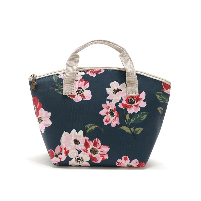 New Portable Canvas Cooler Bag Waterproof Lunch Box Refrigerator Thermal Fridge Bag For Food Handbag