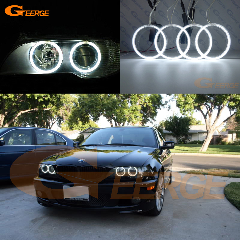 Excellent CCFL Angel Eyes kit halo rings For BMW E46 325ci 330ci Convertible Coupe 2004 2005 2006 LCI xenon headlight