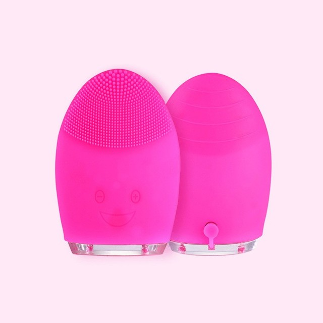 Electric Facial Cleansing Brush Silicone Sonic Vibration Mini Cleanser Deep Pore Cleansing Skin Massage Face Brush Phonophoresis 5