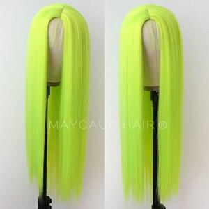Image 5 - Uzun düz sentetik saç kahküllü peruk uzun siyah saç peruk kadınlar için