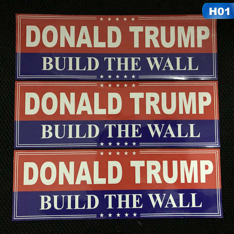 10 Donald Trump Build The Wall President MAGA USA Window Decal Bumper Stickers