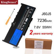 KingSener batterie de remplacement pour ordinateur portable Dell Latitude, 7.6V, 55wh, modèles J60J5, R1V85 MC34Y 242WD, nouveau modèle