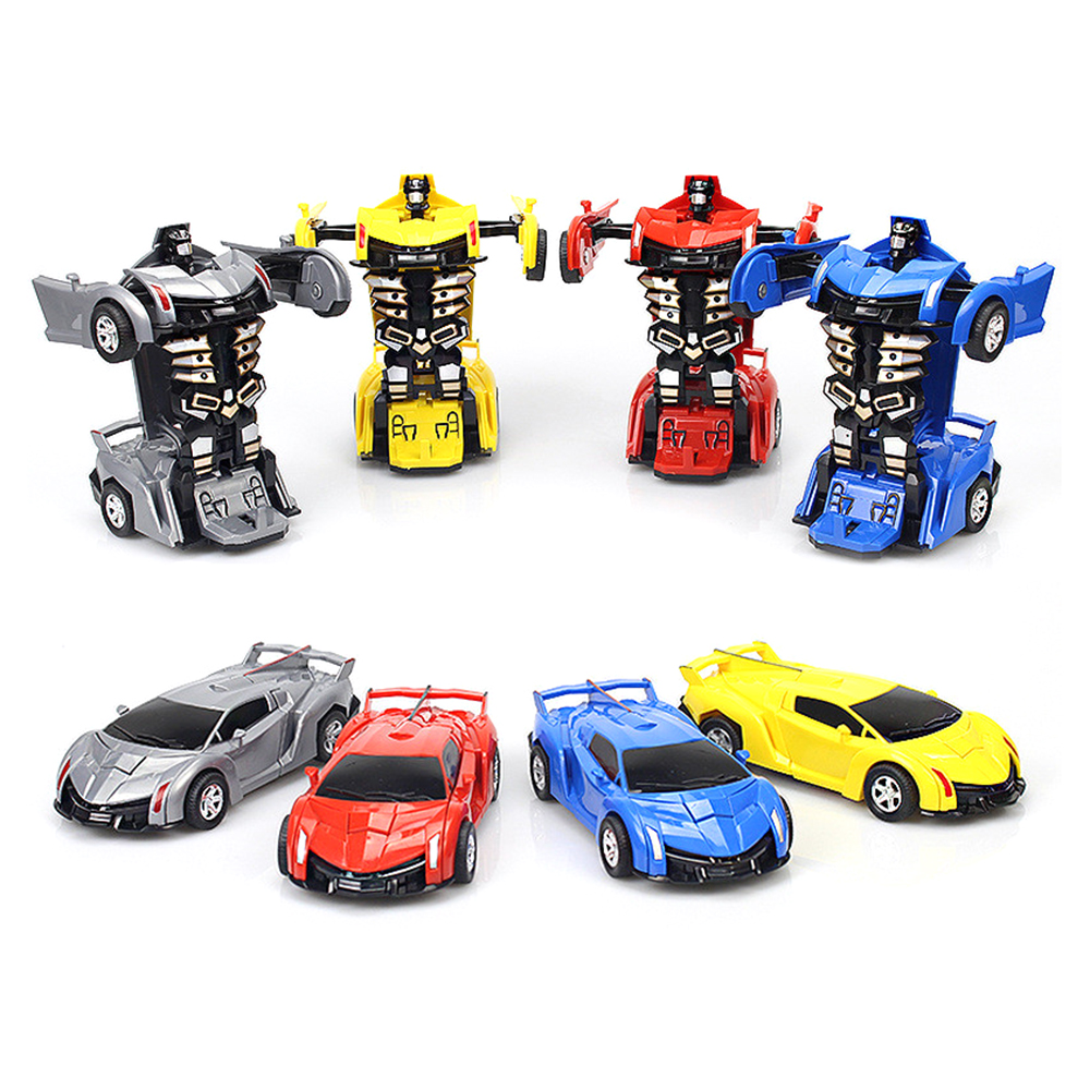 Kids Car Toys Automatic Transform Robot Plastic Model Vehicle Cool  Toys For Boys Amazing Gifts Children Entertainment Toys