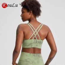 Roulu «вареный» крест накрест Для женщин спортивный бюстгальтер