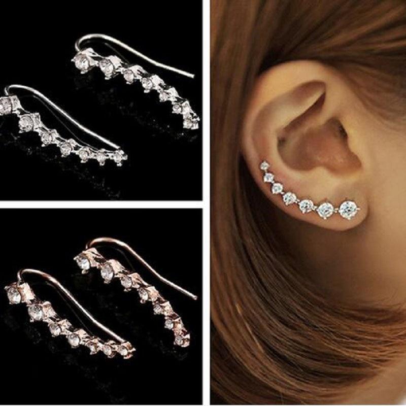 Earrings Jewelry Dipper Ear-Cuff Crystal Women Simple Fashion 1pcs For Brincos Bijoux