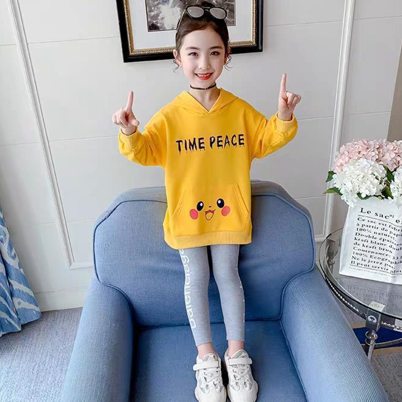 Children Clothes Autumn Cartoon Girls Sets Long Sleeve Tracksuit 2- 13 Years hoodies Girls Clothing Sport Suit Kids Clothes Sets 3