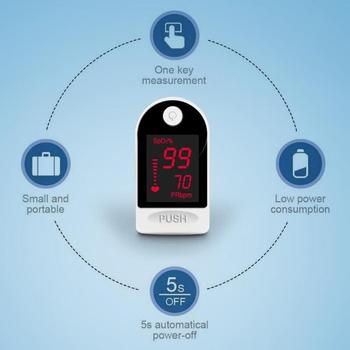 Finger Oximeter Fingertip Pulsoximeter Equipment Full Screen Heart Rate Spo2 PR Pulse Oximeter image