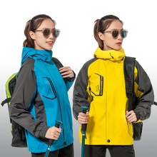 Autumn Winter Thick Hooded Cycling Hiking Jacket Windbreaker Practical Detachable Waterproof Windproof Fluffy Thermal Jacket autumn m65 jungle hooded jacket outdoor hiking hunting detachable liner windbreaker army tactical windproof waterproof coat