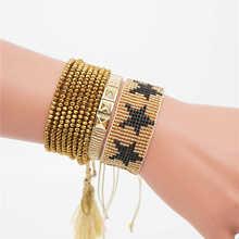 Женский браслет rttooas miyuki из бусин золотого цвета ювелирное
