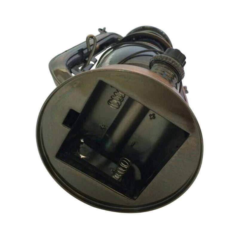 Vintage LED Lamp Lantern Energy Saving Handheld Flashlight With Hanging Hook K1KC