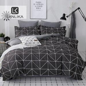 Image 1 - Lanlika 2020 Bedding Set Duvet Cover Set King Queen Full Twin Brief Flat Sheet Man Adult Nordic Bedspread Home Bed Linen Set