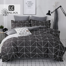 Lanlika 2020 ชุดเครื่องนอนผ้านวมชุด King Queen Full TWIN สั้นแบนแผ่น Man ผู้ใหญ่ Nordic ผ้าคลุมเตียง Home Bed ชุดผ้าลินิน