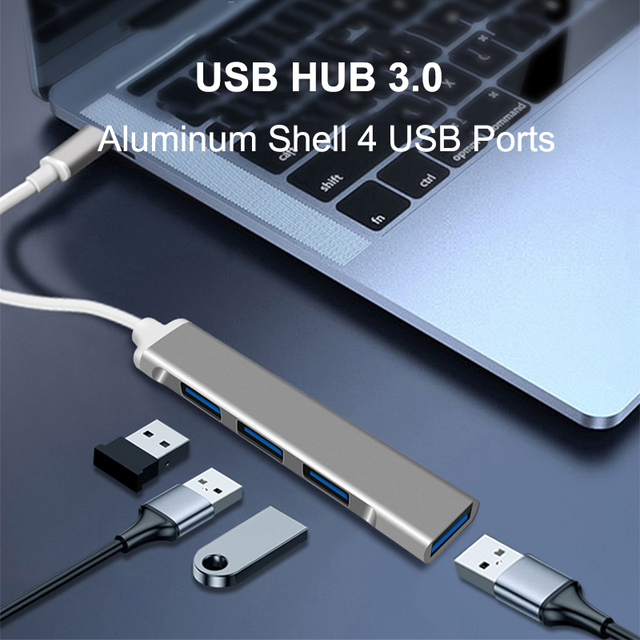 USB C HUB 3.0 Type C 3.1 4 Port Multi Splitter Adapter OTG For Lenovo Xiaomi Macbook Pro 13 15 Air Pro PC Computer Accessories 2