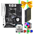 HUANANZHI X99 motherboard bundle X99-TF motherboard with dual M.2 slot M.2 WIFI slot CPU 2670 V3 with cooler RAM 64G(4*16G) DDR4