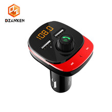 Car Kit Handsfree Wireless Bluetooth FM Transmitter MP3 Player 3.4A Quick Charge Dual USB Car Charger 12v-24 Car FM Modulator все цены