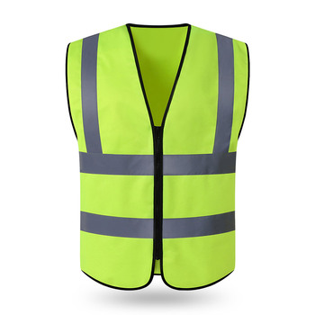 10 PCS Free Custom LOGO Reflective Vest Construction Site Safety Protective Clothing Jacket Garden Traffic Fluorescent Vest tanie i dobre opinie