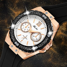Часы missfox женские кварцевые люксовые брендовые черные с резиновым