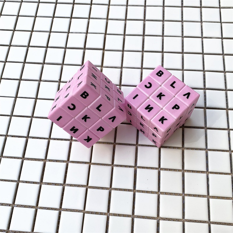 Kpop Star Blackpink Logo Magic Cubes Black Pink Puzzle Cube Toy Gift Education Toy