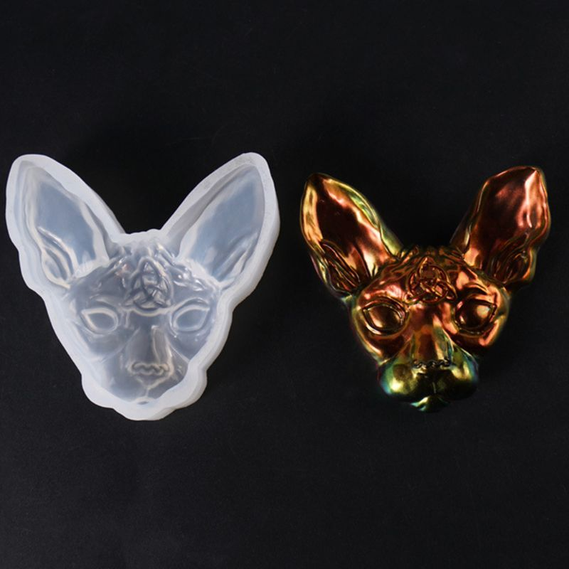 1PC 3D Devil Cat Shaped Silicone Jewelry Molds DIY Pendant Jewelry Brooch Making Jewelry Tools UV Epoxy Resin Mold