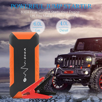 Mini Car Jump Starter 12V 1000A Peak Current Battery Power Bank Safty Lithium Battery Power Pack 6.0L GAS 4.0L DIESEL For Hiking image