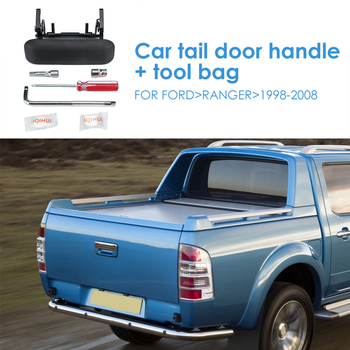 Car Tailgate Handle For Ford Ranger 1998-2008 Black Rear Tailgate Trunk Handle With Tools Auto Replacement Parts image