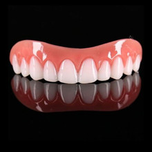 Beauty Tool False Teeth Perfect Instant Smile Comfort Fit Flex Teeth Whitening Denture Paste Upper Cosmetic Fake Tooth Cover