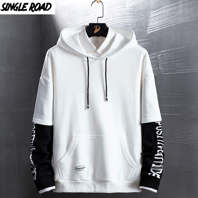 SingleRoad Men's Hoodies Autumn Spring New Fashion Japanese Streetwear Hip Hop Sweatshirts Women Harajuku Yellow Hoodie Men Male