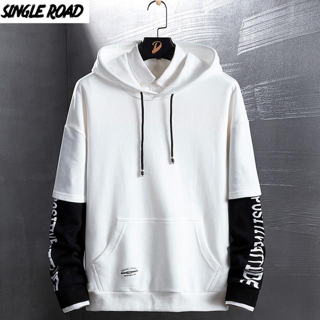 SingleRoad Mens Hoodies Autumn Spring New Fashion Japanese Streetwear Hip Hop Sweatshirts Women Harajuku Yellow Hoodie Men Male