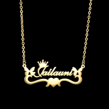 Acheerup Personalized Name Necklace For Women Gold Stainless Steel Custom Letter Follower Butterfly Heart Choker Jewelry Gifts