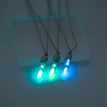 2019 fashion hourglass Luminous  Pendant Necklace Glowing in the Dark Hollow Jewelry Halloween Gifts