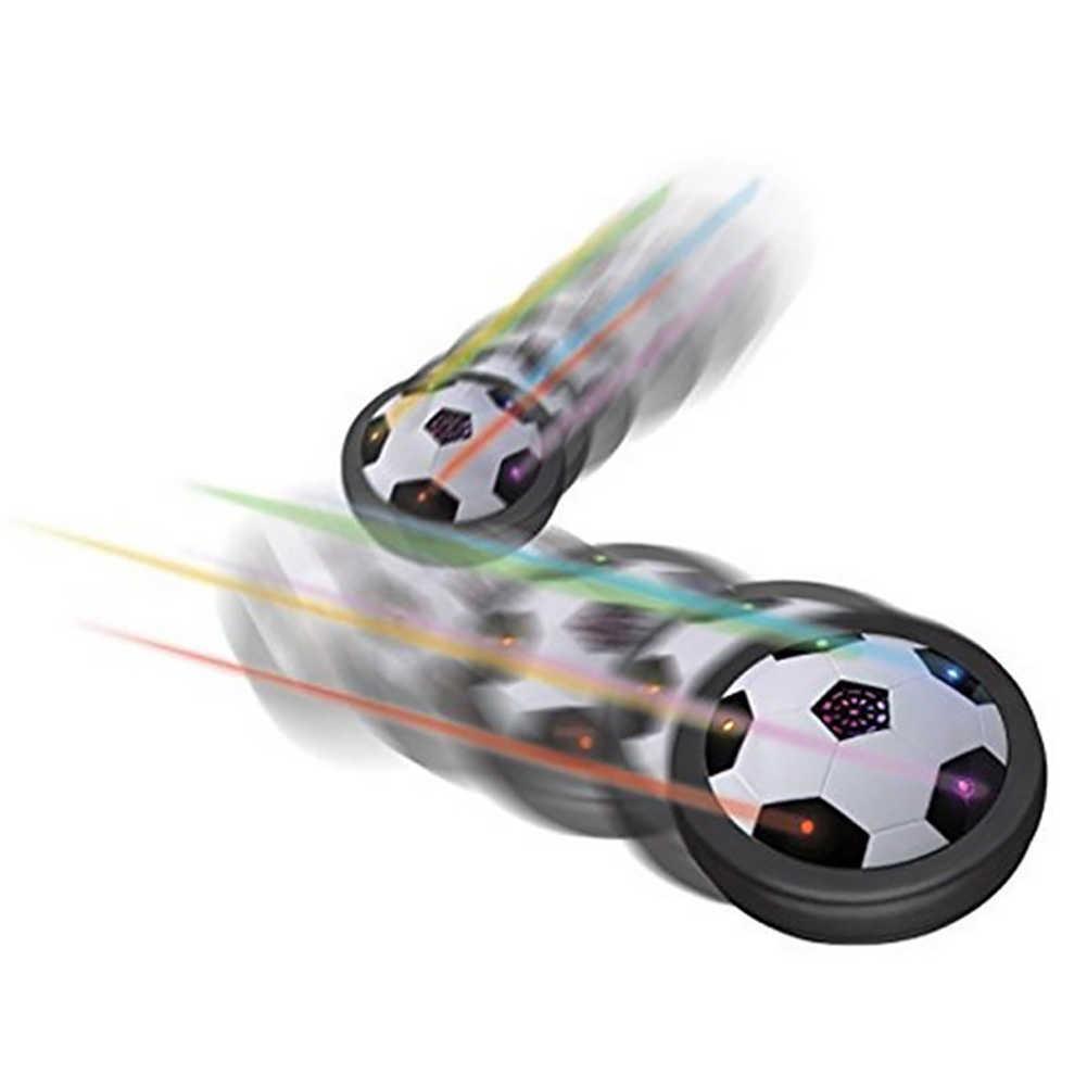 Colorido elétrico led pairar futebol crianças indoor flutuante brinquedo interativo de futebol deslizando multi-superfície pairando presentes de futebol brinquedo