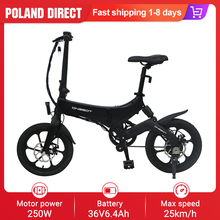 ONEBOT S6 Bike Electric-Bicycle-Cruiser Folding Top-Speed Lithium-Battery 250W 36V 16inch