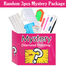 1Pack Gift 3pc, May Include Diamond Paintings, Diamond Painting Accessories, Different Tools, Etc. Random Mysterious Gift Pack.