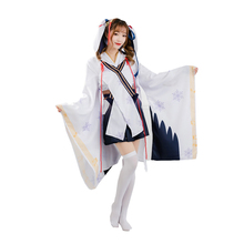 Brdwn Vocaloid Womens Hatsune Snow Miku Cosplay Costume Kimono Suit