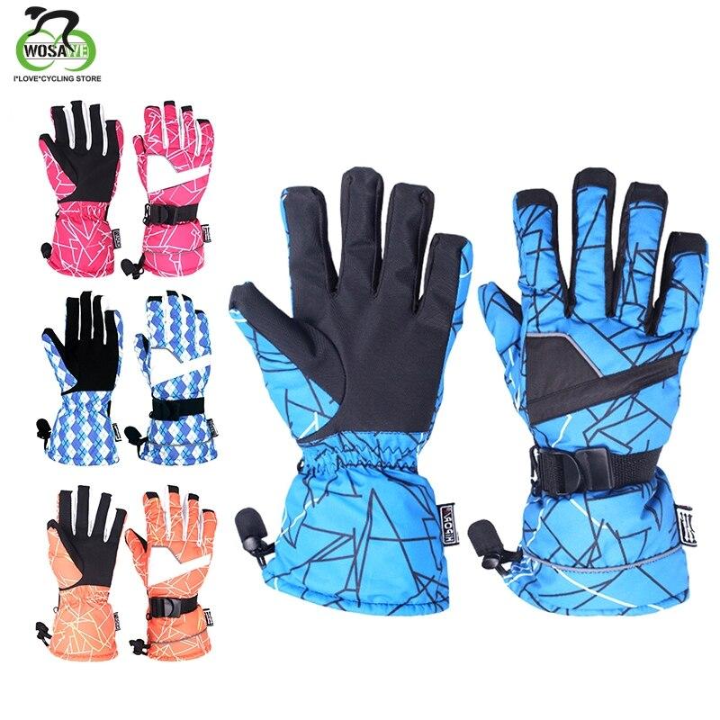 Skiing Gloves Men Women Thicken Flannel Winter Warm Snowboarding Ski Gloves Cold Protection Windproof Snow Mittens Waterproof