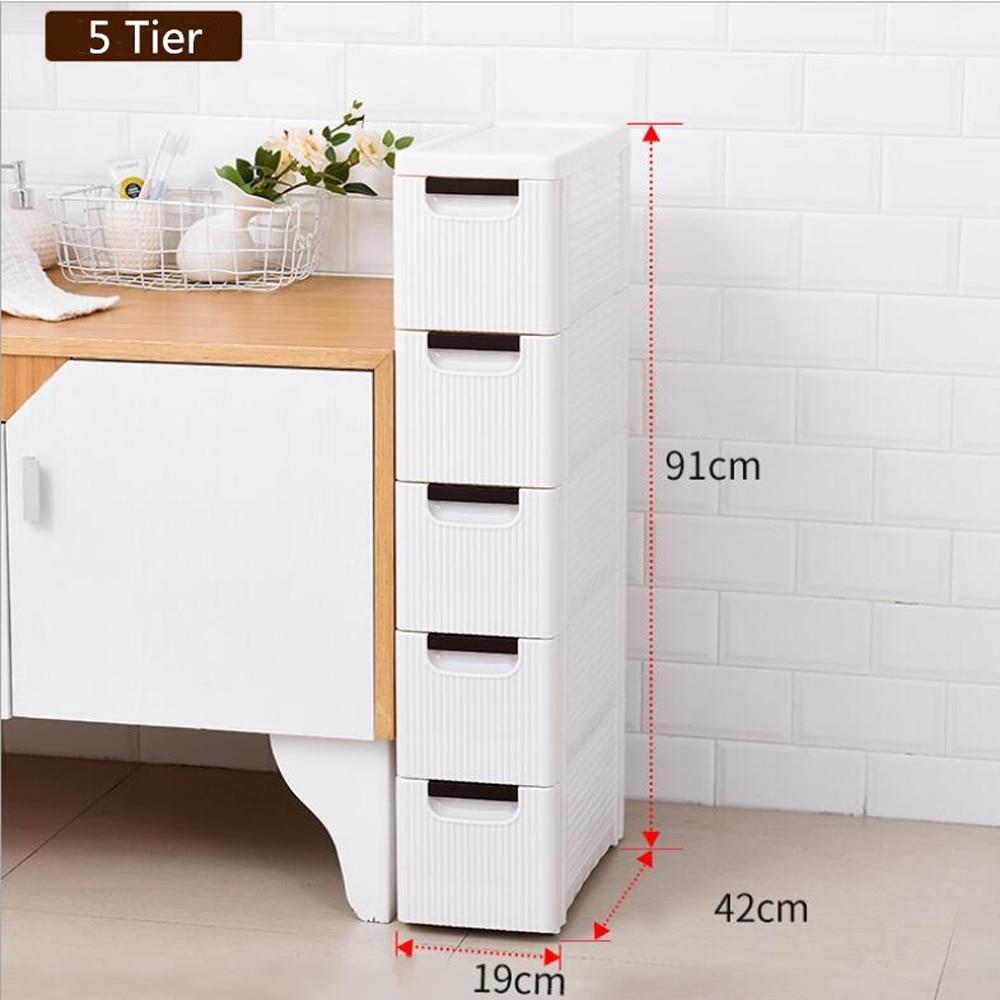 Cabinet Bathroom Washing Machine Side Cabinet Waterproof Floor Cabinet Storage Rack Toilet Side Cabinet For Bedroom Kitchen