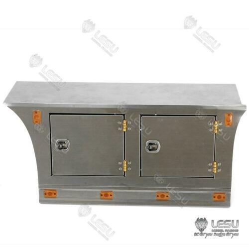 lesu rc placa de metal saia lateral luz toolbox 1 14 diy tmy vol trator caminhao