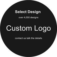 50Pcs Logo personalizzato Design nero bianco semplice presa per dito supporto per telefono supporto per staffa con confezione trasparente