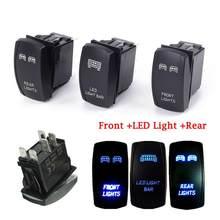 3 unids/set delantera y trasera y barra de luz LED interruptor basculante para UTV Polaris RZR 900 1000 Ranger
