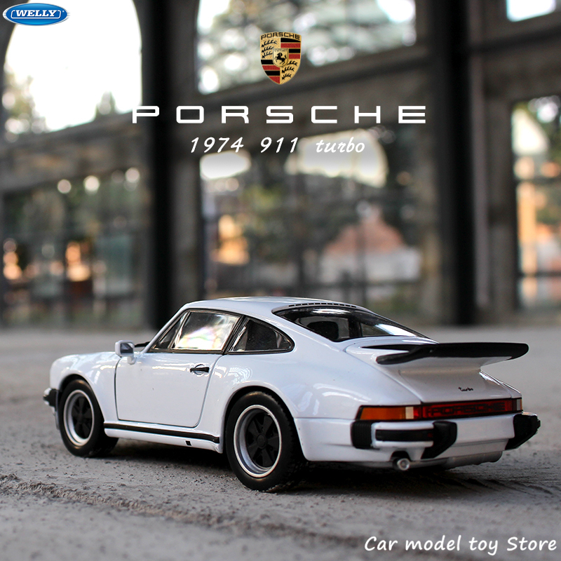 WELLY 1:24 1974 Porsche 911 Turbo3.0 Sports Car Simulation Alloy Car Model Crafts Decoration Collection Toy Tools Gift