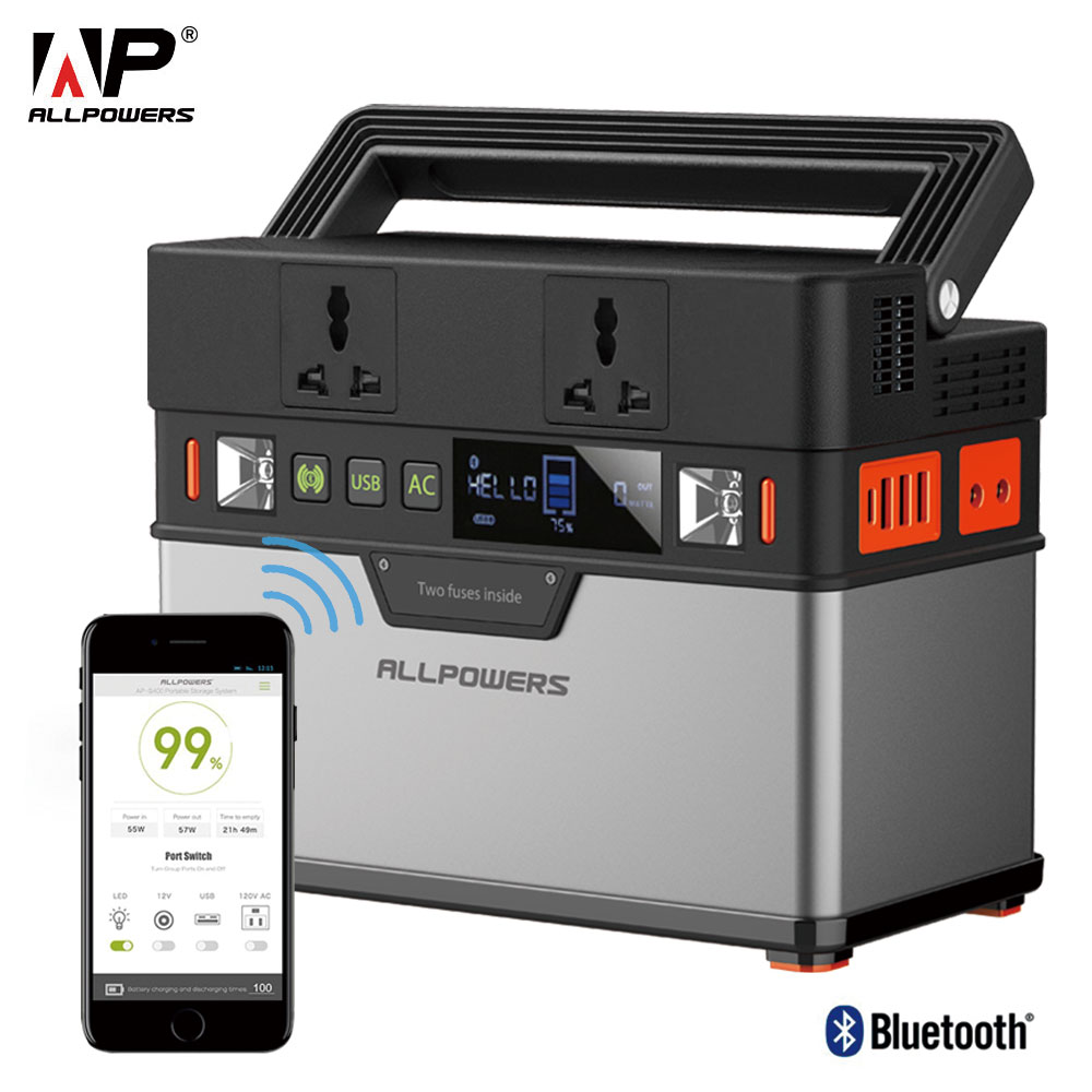 ALLPOWERS 110V 220V AC Power Station Pure Sine Wave Portable Generator Powering Car Refrigerator TV Drone Laptops