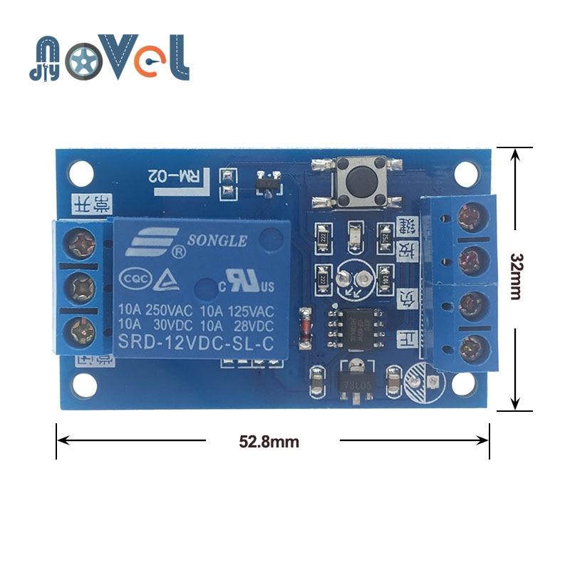 Релейный модуль 12 В однокнопочный бистабильный модуль одна клавиша модификация автомобиля старт-стоп самоблокирующийся переключатель мод...