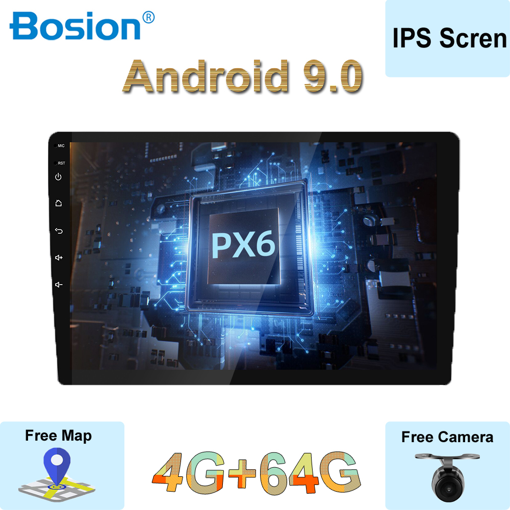<font><b>Autoradio</b></font> 1 Din 9''10'' IPS Screen Universal <font><b>Android</b></font> 9.0 4GB RAM Car Radio Stereo GPS Navigation WiFi <font><b>1din</b></font> NO <font><b>DVD</b></font> Free Camera image